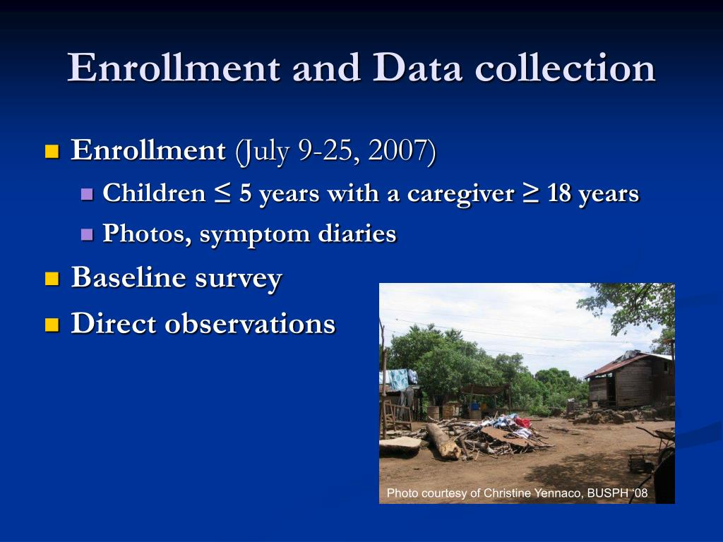 Enrollment and Data collection