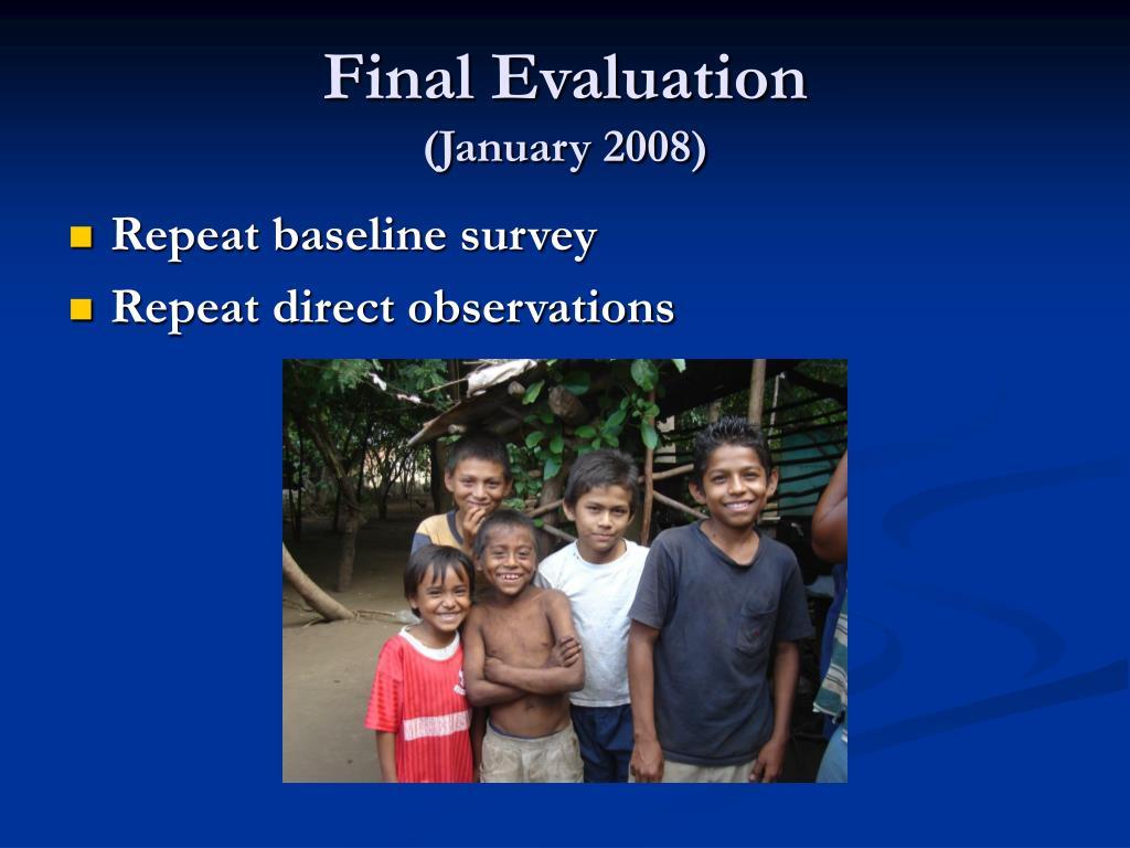 Final Evaluation
