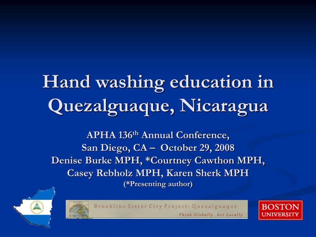 Hand washing education in Quezalguaque, Nicaragua