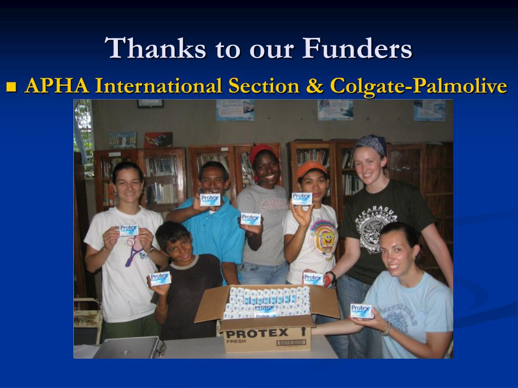 Thanks to our Funders