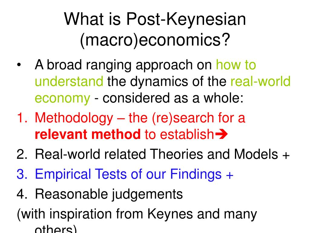 What is Post-Keynesian (macro)economics?