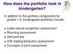 how does the portfolio look in kindergarten
