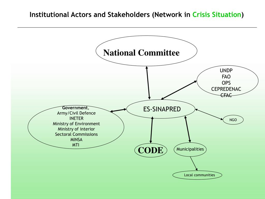 Institutional Actors and Stakeholders (Network in