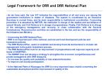 legal framework for drr and drr national plan