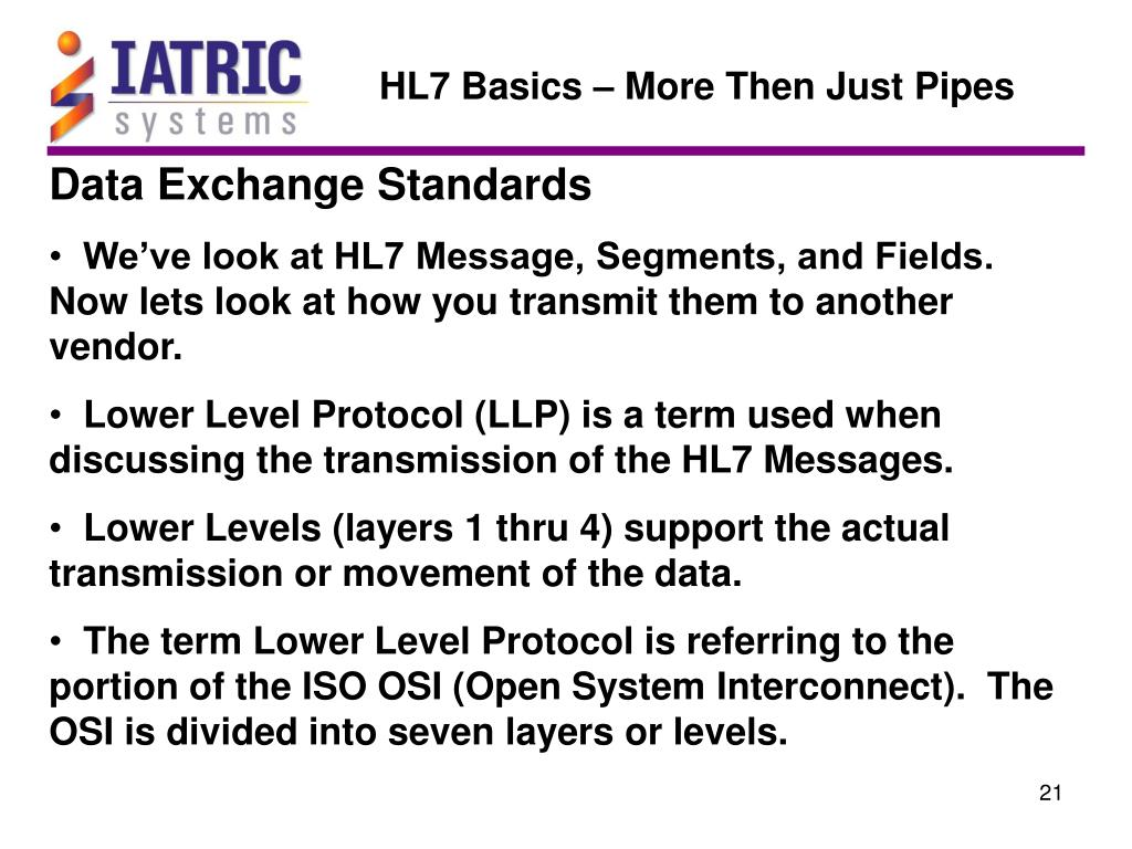 HL7 Basics – More Then Just Pipes