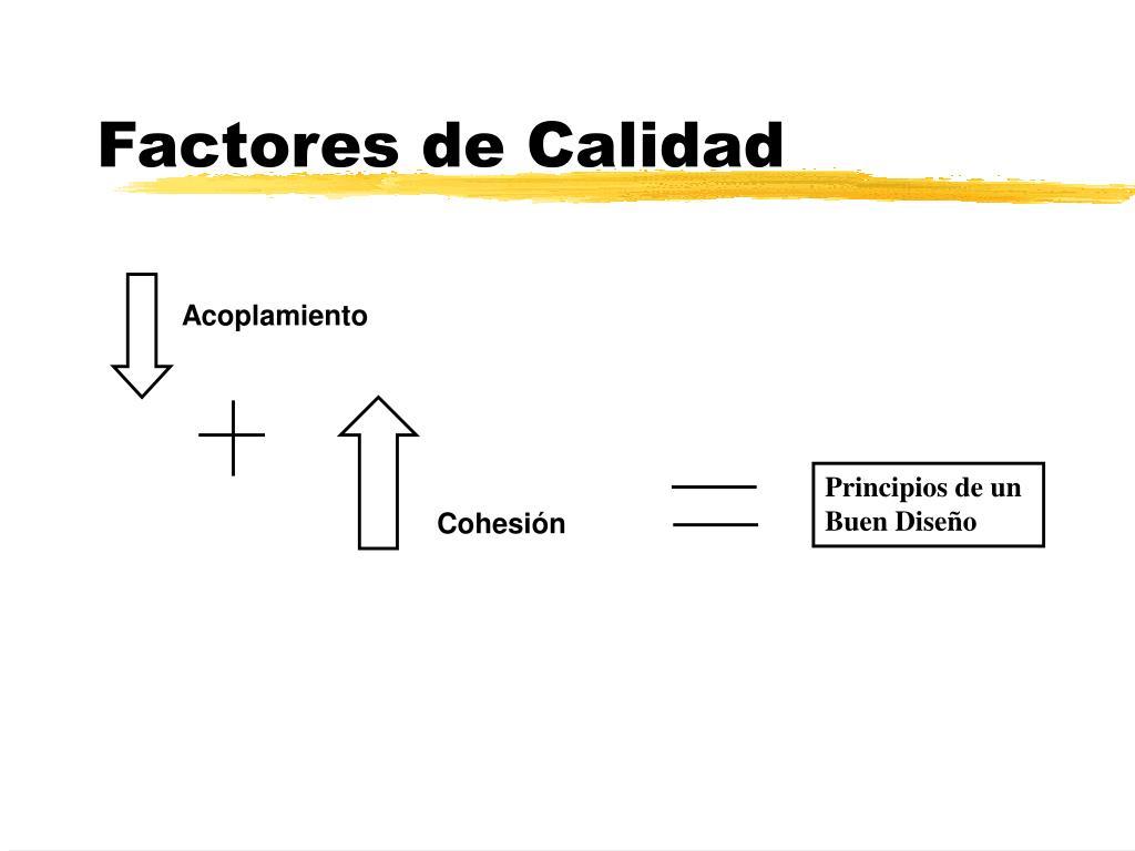 Factores de Calidad