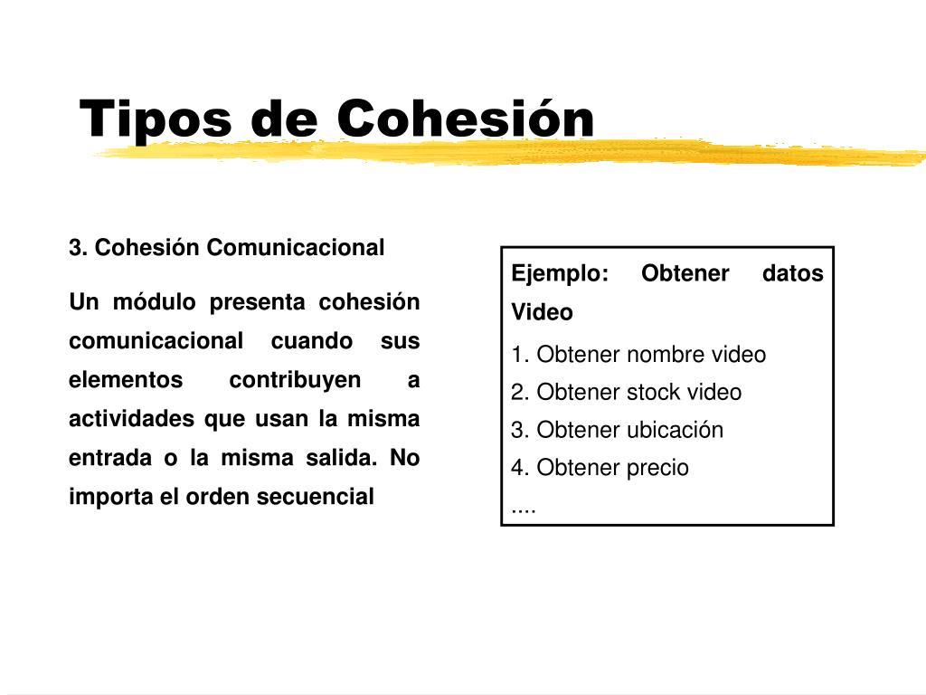 Tipos de Cohesión