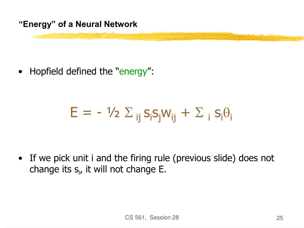 """""""Energy"""" of a Neural Network"""