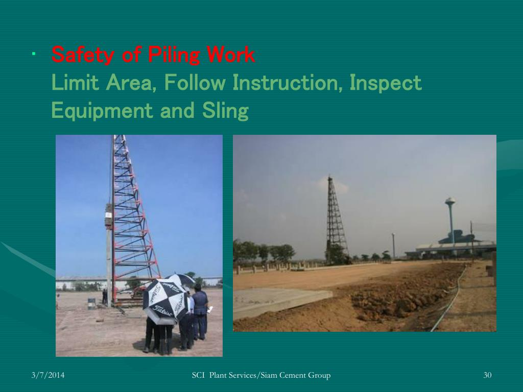 Safety of Piling Work