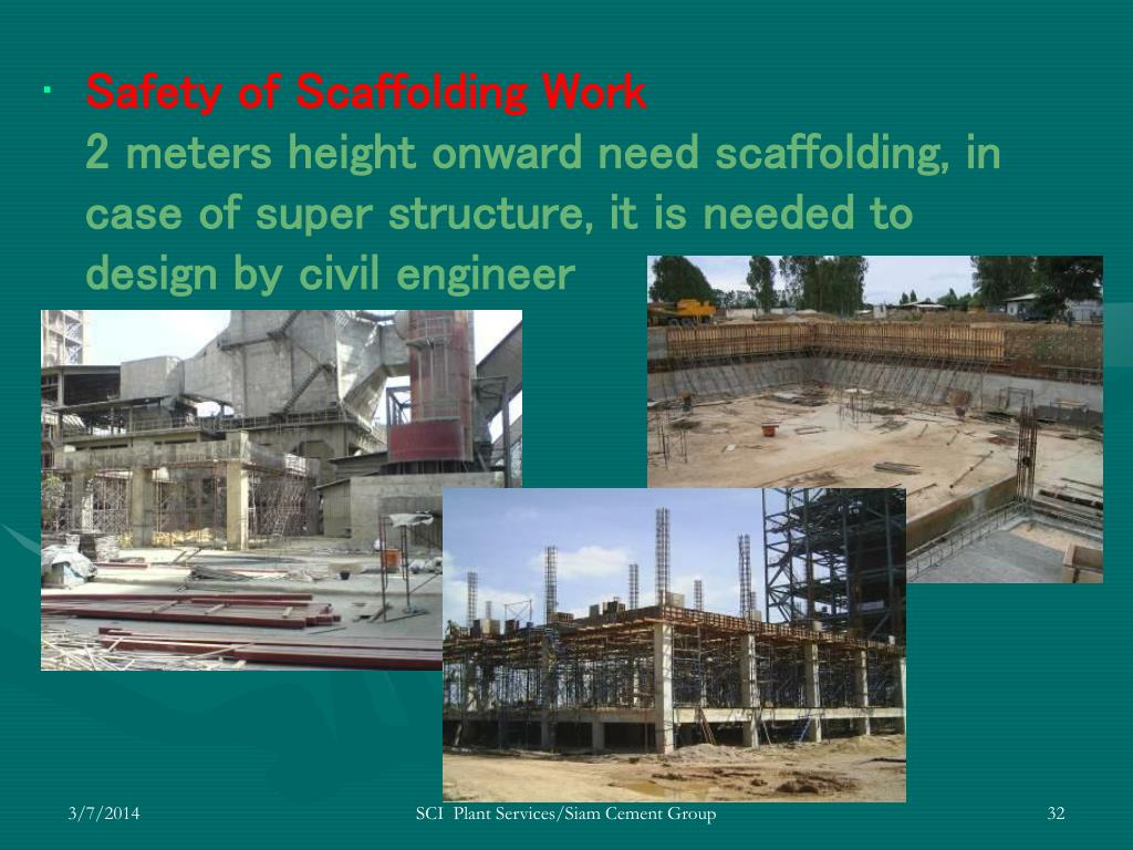 Safety of Scaffolding Work