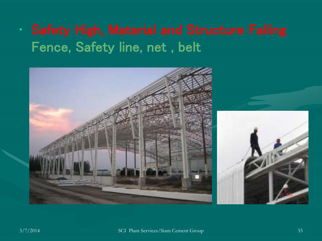 Safety High, Material and Structure Falling