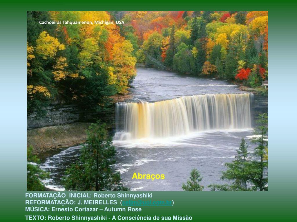 Cachoeiras Tahquamenon, Michigan, USA