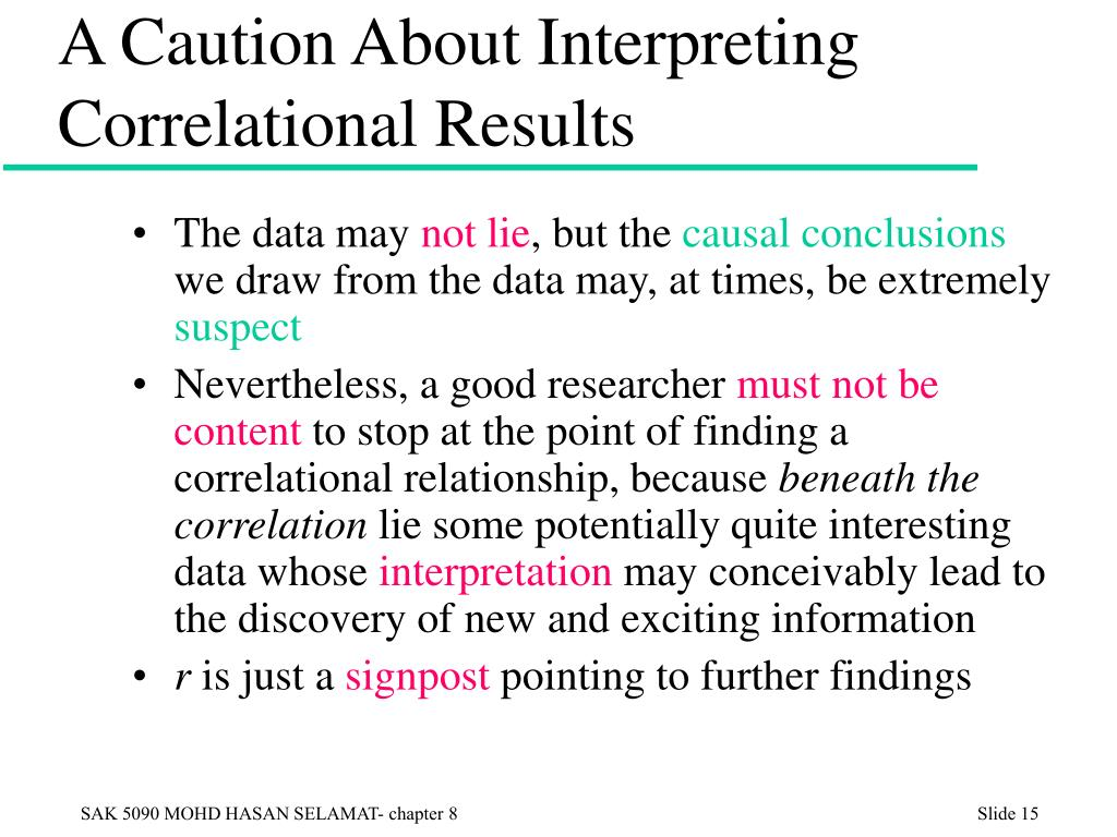 A Caution About Interpreting Correlational Results