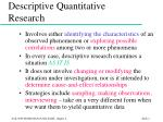 descriptive quantitative research