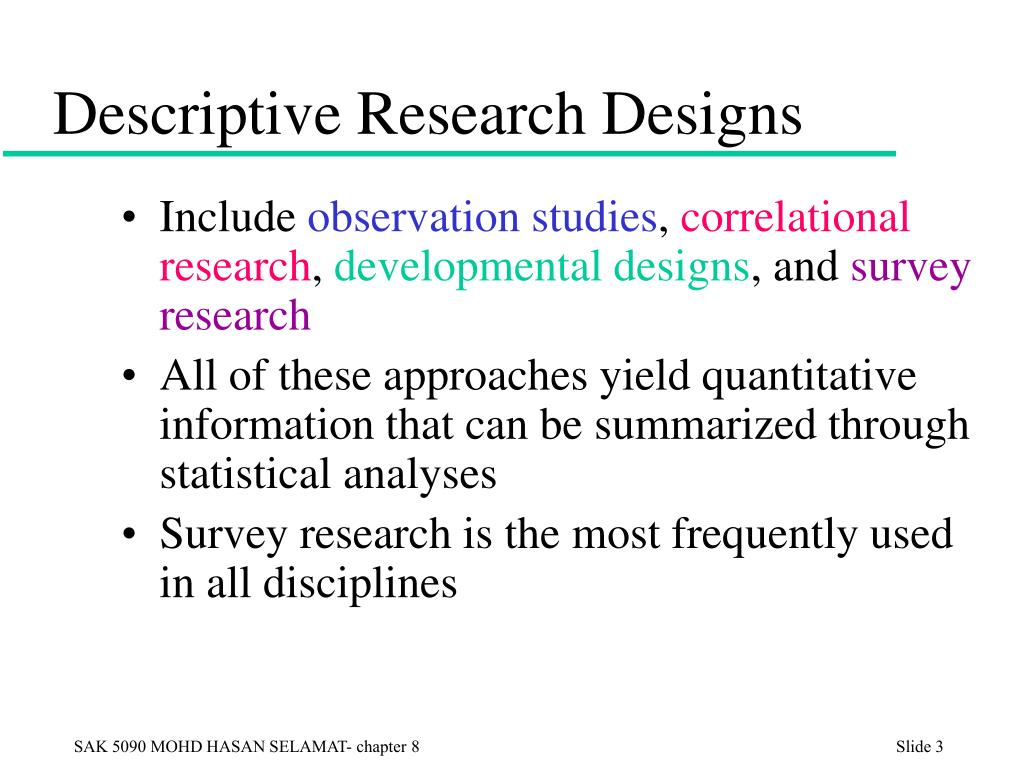 example of descriptive research design Differentiate the goals of descriptive, correlational, and experimental research designs and explain the advantages and disadvantages of each an interesting example of a case study in clinical psychology is described by rokeach (1964), who investigated in detail the beliefs and interactions among three patients with.