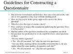 guidelines for constructing a questionnaire45
