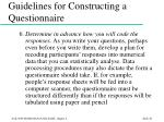 guidelines for constructing a questionnaire48