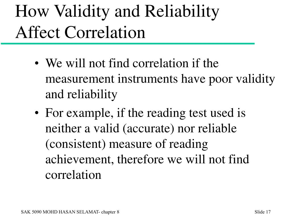 How Validity and Reliability Affect Correlation