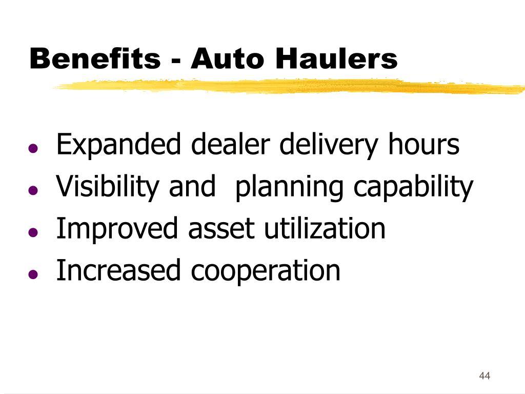Benefits - Auto Haulers