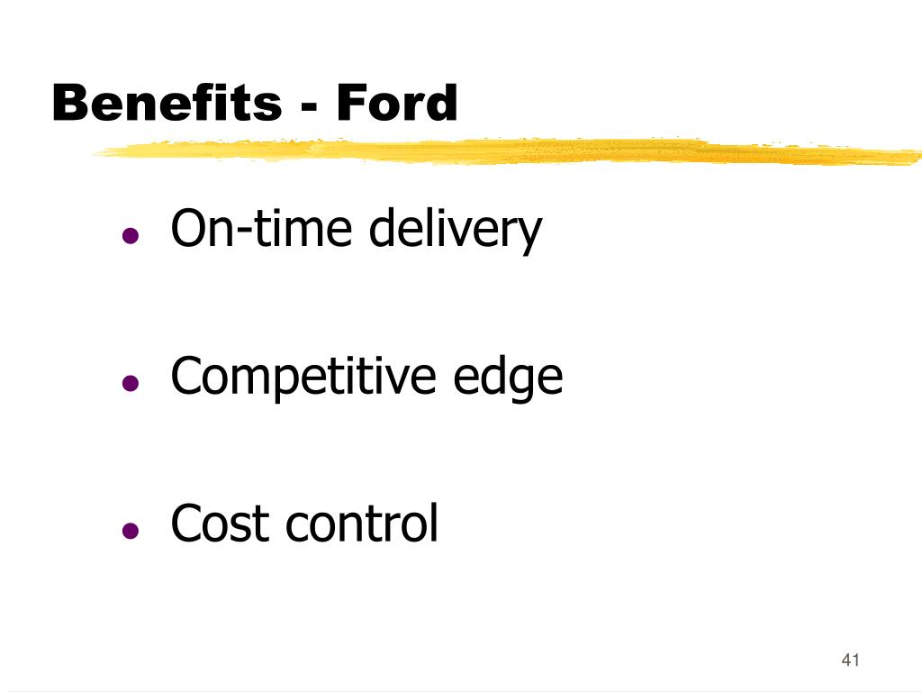 Benefits - Ford
