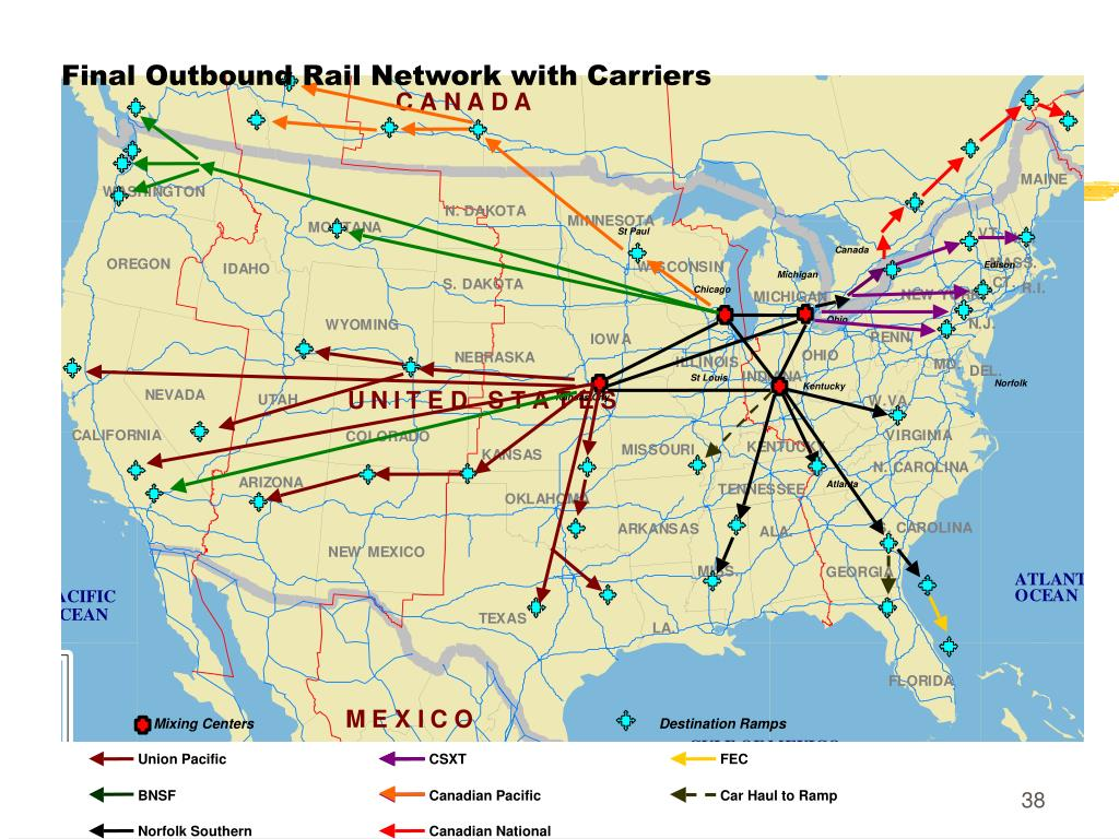 Final Outbound Rail Network with Carriers
