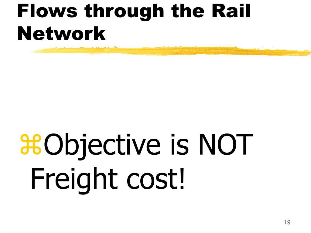 Flows through the Rail Network