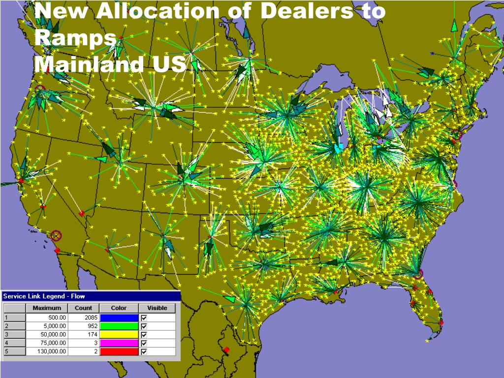 New Allocation of Dealers to Ramps