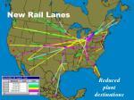 new rail lanes