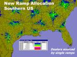 new ramp allocation southern us