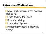 objectives motivation