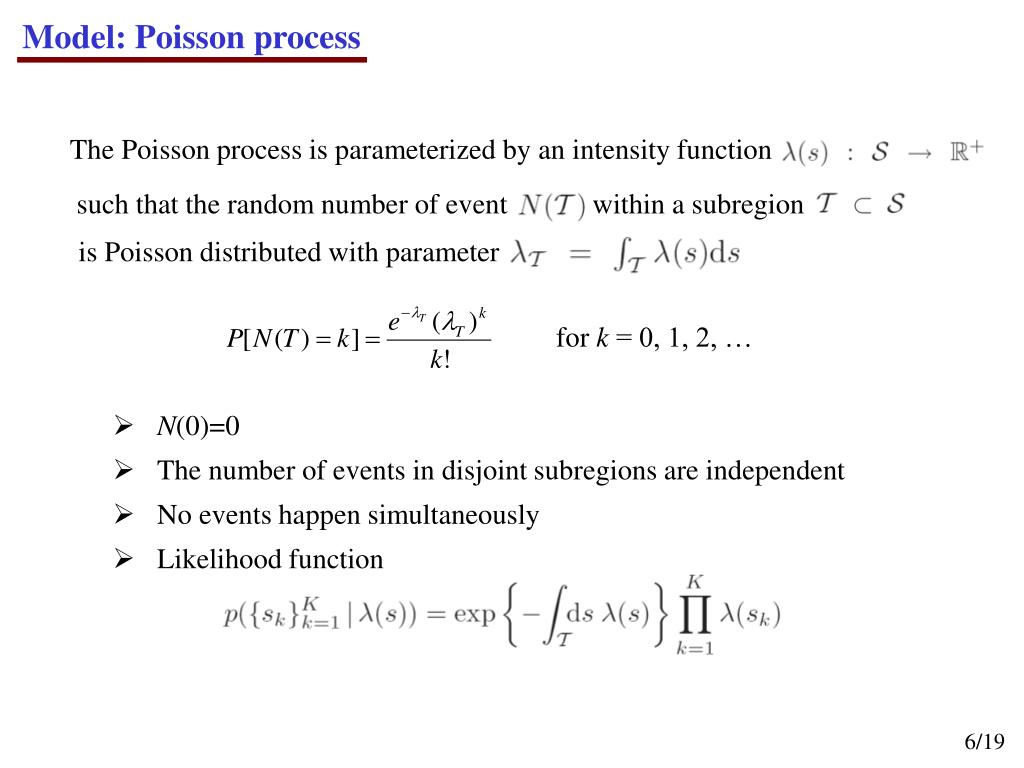 Model: Poisson process