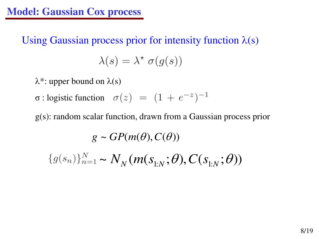 Model: Gaussian Cox process