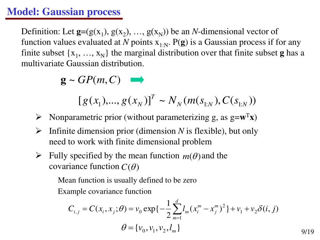 Model: Gaussian process