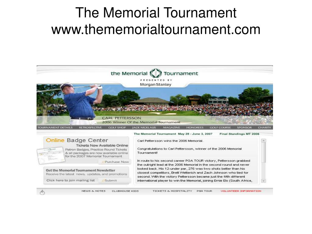 The Memorial Tournament