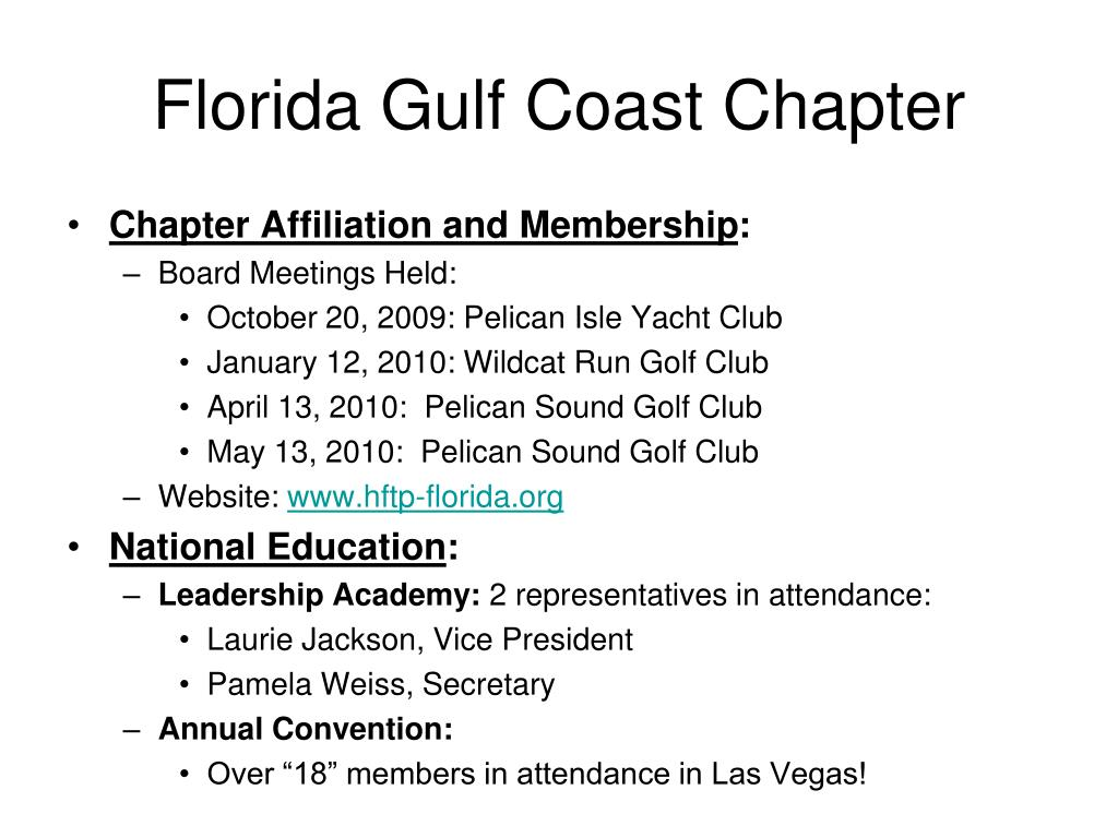 Florida Gulf Coast Chapter