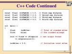 c code continued