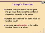 length function