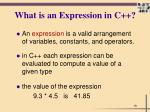 what is an expression in c