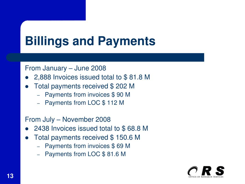 Billings and Payments