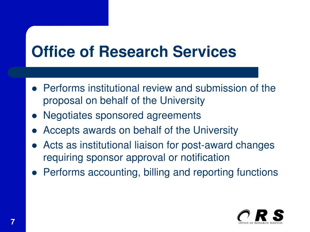Office of Research Services