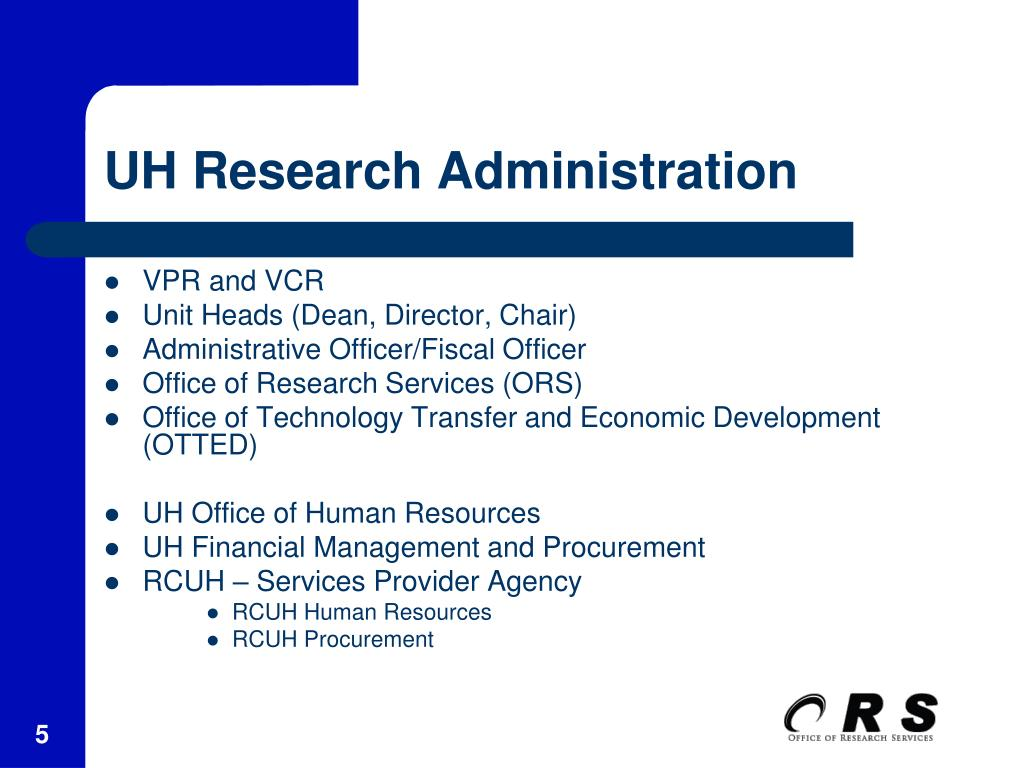 UH Research Administration