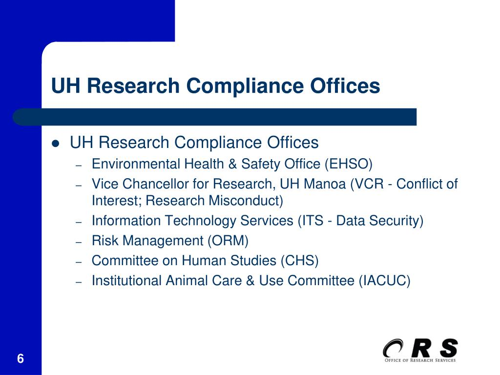 UH Research Compliance Offices