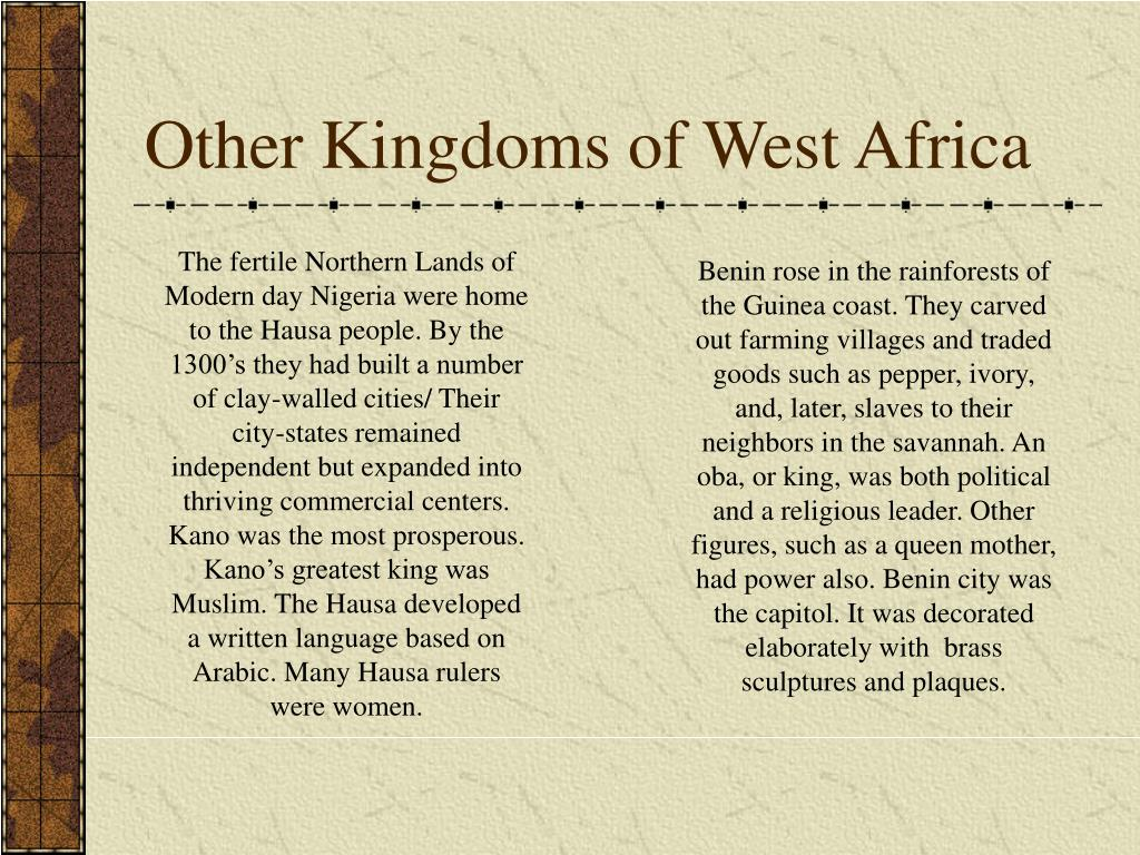 Other Kingdoms of West Africa