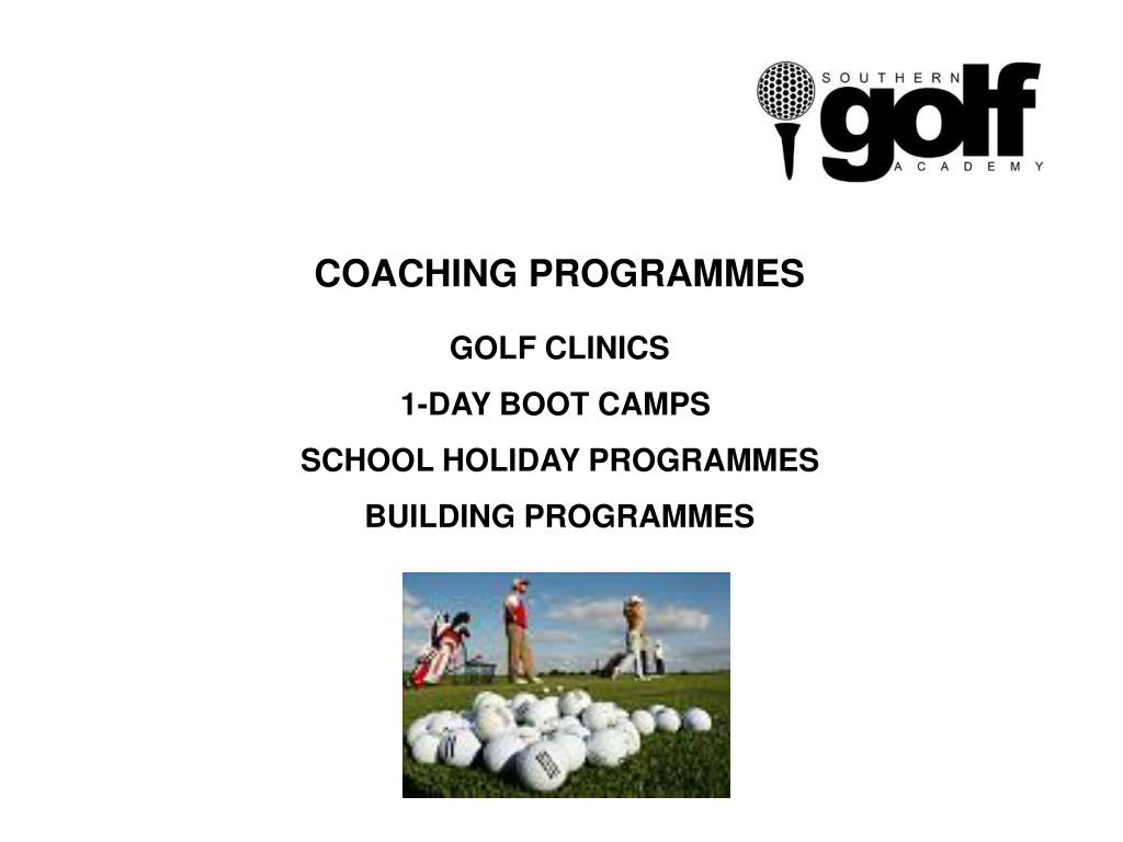 COACHING PROGRAMMES