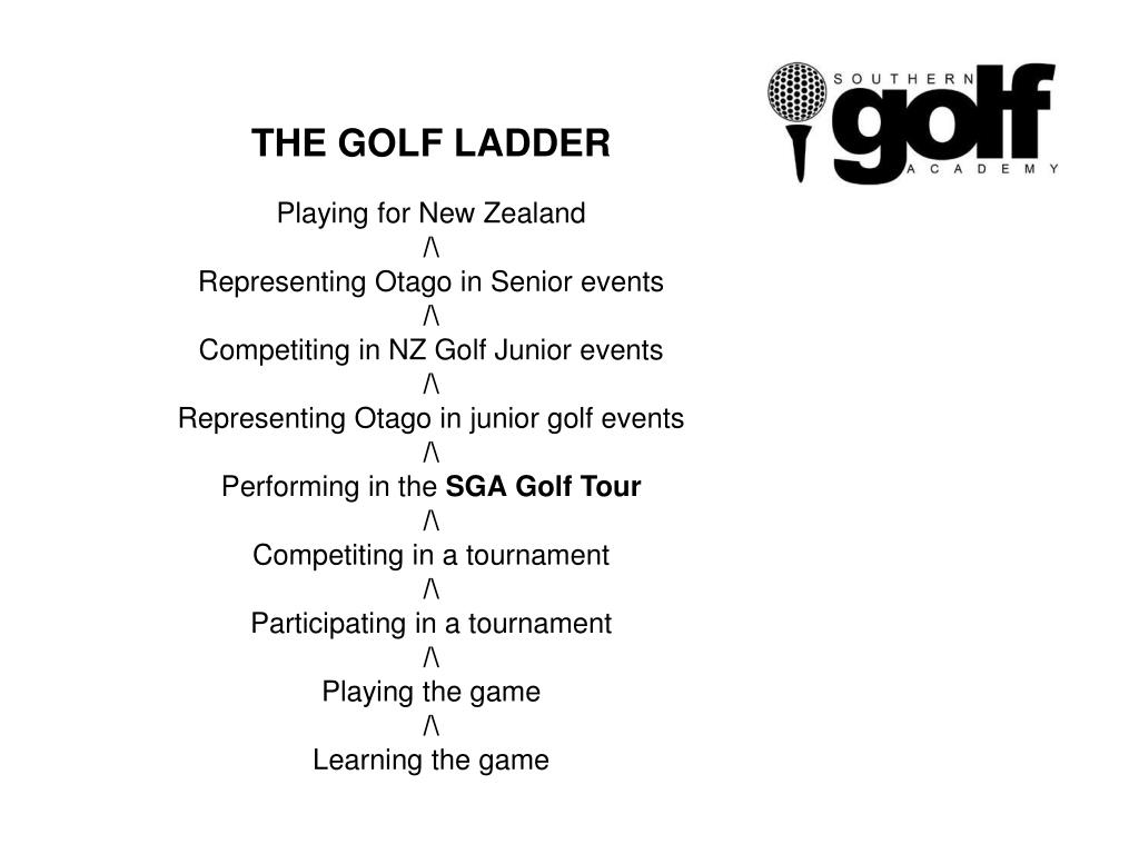 THE GOLF LADDER