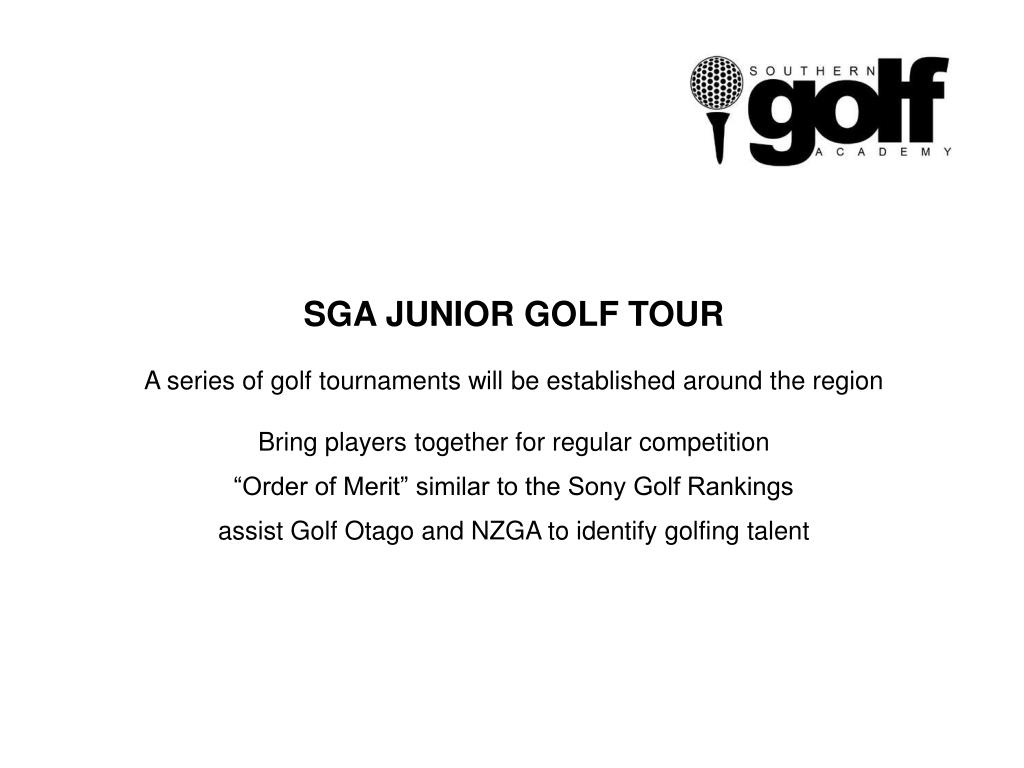 SGA JUNIOR GOLF TOUR