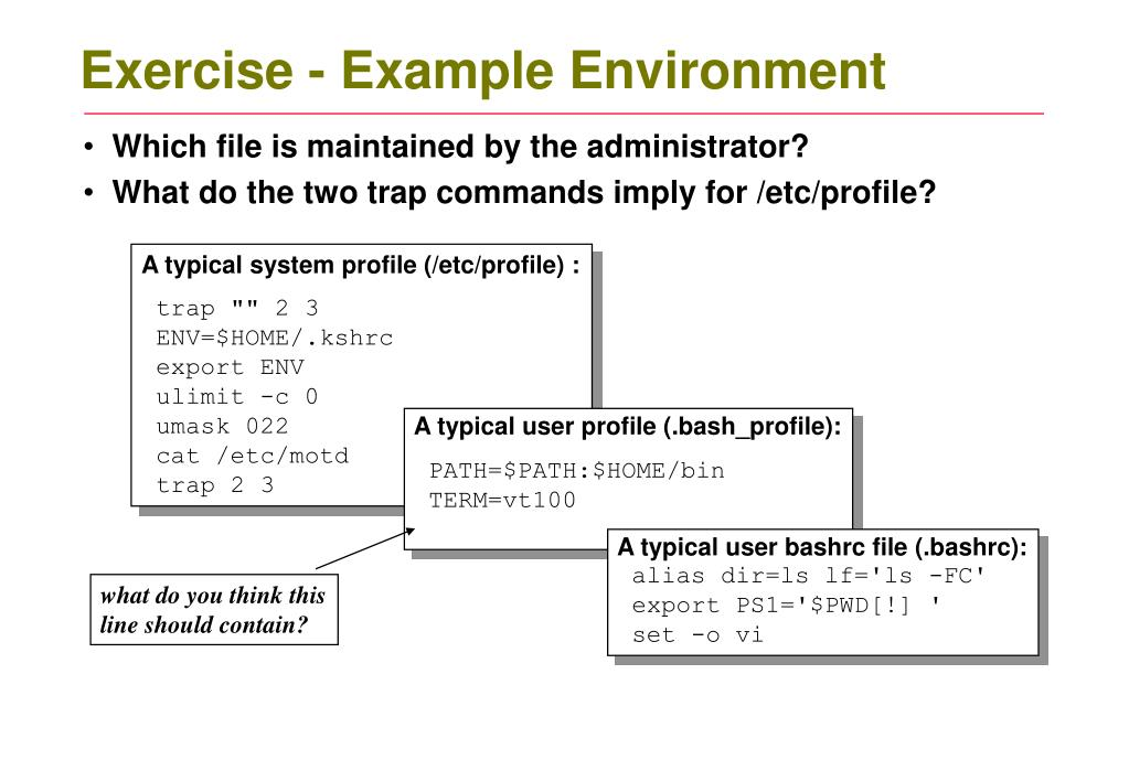Exercise - Example Environment