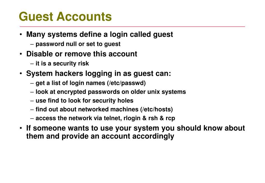 Guest Accounts