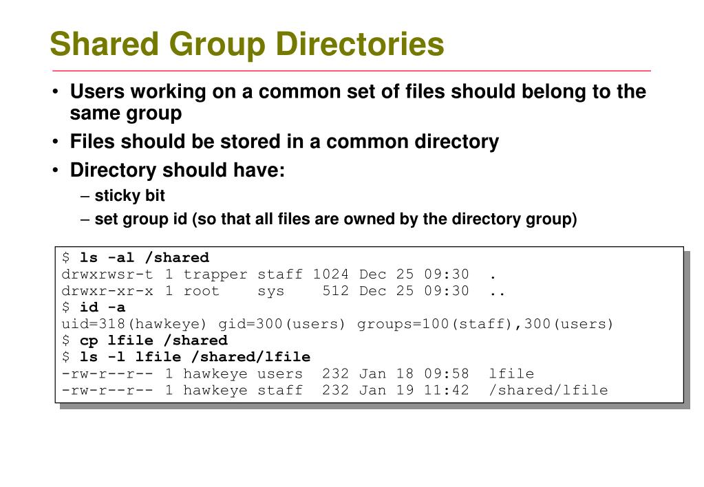 Shared Group Directories
