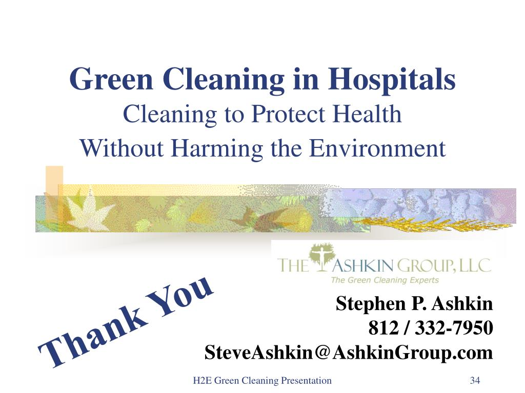 Green Cleaning in Hospitals
